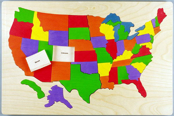 Usa Map Puzzle Abcya